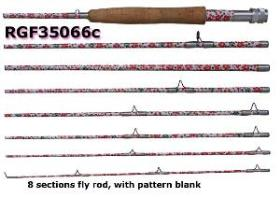 Osprey compact fly rods. Fly rods in 8 sections.