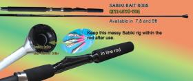 Osprey sabiki rods. Sabik rods availalble in length of 7, 8 and 9ft.